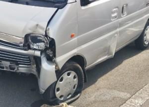 軽貨物ドライバーが乗る軽自動車の事故