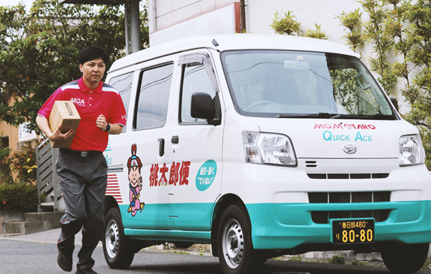桃太郎便の軽貨物ドライバーが配達で乗る軽自動車